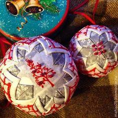 Новогодние шары - 10 см и 7 см. - Новый Год,новогодний подарок,новогодний сувенир