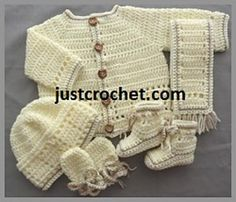 You are welcome to sell or give to charity, craft fairs etc anything that you make from my designs, please use your own pictures. (a mention that it is a justcrochet pattern is always appreciated) Crochet Baby Blanket Beginner, Crochet Baby Cardigan, Crochet Headband Pattern, Crochet Baby Clothes, Easy Crochet Patterns, Baby Knitting Patterns, Crochet Bebe, Crochet For Boys, Cute Crochet