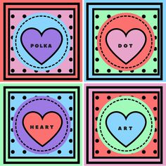 Polka Dot Heart Art Print