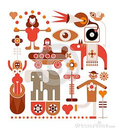 Circus - vector illustration by Chetverikoff, via Dreamstime