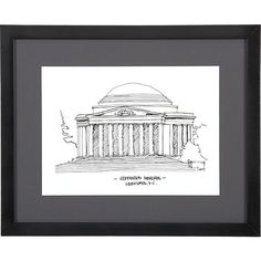 Cityscape Washington DC Print in All Sale | Crate and Barrel