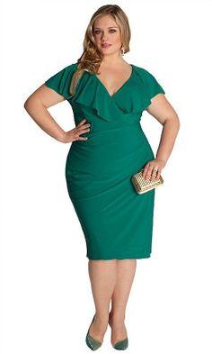 Fashion Bug Womens Plus Size Curvy Dress in Jade