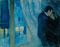 Edvard Munch, Kiss by the Window in The National Museum of Art, Architecture and Design, Oslo, Norway