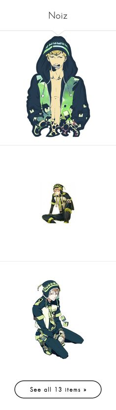 """Noiz"" by y-a-o-i ❤ liked on Polyvore featuring anime, dmmd, dramatical murder, jewelry, mink jewelry, animal jewelry, clear jewelry, clear crystal jewelry, long jewelry and people"