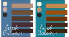 сочетание серо синего и сине зеленого с коричневым