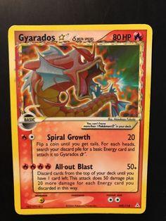 POKEMON GYARADOS 102/110 Rare GOLD STAR CARD (Delta Species) Excellent Condition
