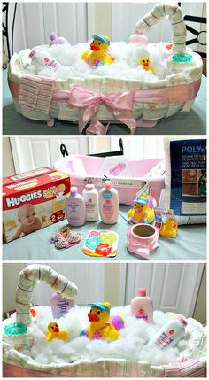 How To Make A Diaper Tub Cake
