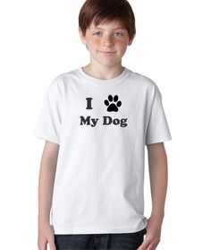 I Paw My Dog Puppy Best Friend Animals Funny T-Shirt for Kids Pets Tee
