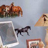 Wild Horses Peel and Stick Appliques