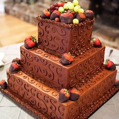 Best creative grooms cake ideas you will love 38 Creative Desserts, Creative Cakes, Beautiful Cakes, Amazing Cakes, Chocolate Grooms Cake, Chocolate Frosting, Fall Wedding Cakes, Square Cakes, German Chocolate