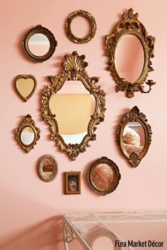 Italian Florentine Rose Wood Gold Ornate Mirror - Healty fitness home cleaning Gold Ornate Mirror, Vintage Mirrors, Vintage Decor, Victorian Wall Decor, Antique Wall Decor, Victorian Mirror, Vintage Frames, Victorian Homes, Gold Mirrors