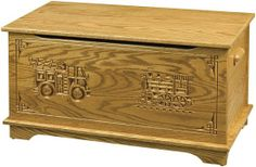 What a great toy box for a kids room.Shaker toy box with truck & train..
