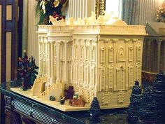 Gingerbread white house