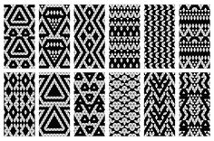 32 Aztec seamless patterns by tamara.comotomo on Creative Market