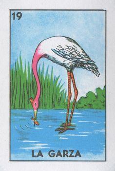 La Garza (The Heron) | Lone Quixote | #loteria #MexicanBingo #art #bingo