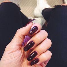 """Thank you god for creating this color"" Amanda Khamkaew, Thank You God, Dark Nails, Perfect Nails, Hair Makeup, Nail Polish, Create, Color, Beauty"