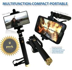 Premium (2-Pack) Bluetooth Selfie Stick & Wired Selfie Stick Extendable with Built in Remote and Adjustable Phone Holder the Best Self-Portrait Monopod for iPhone, Samsung Galaxy & Android Phones https://twitter.com/DailyFinds4U/status/737205305919057920