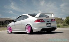 Rsx...white AND pink rims!