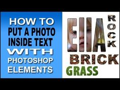 ▶ Photoshop Elements Put Photo Inside Type - YouTube Rick Peterson comin through like a boss!
