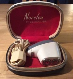 Vintage Norelco Electric Shaver Speedshaver With Cord And Case | eBay