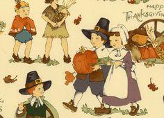 Alexander Henry Happy Thanksgiving Cotton Tea