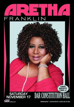 """Aretha Franklin - """"Hey DC! I'm coming your way! Tickets are now on sale for my Nov 17th concert."""" (September 4, 2012)"""