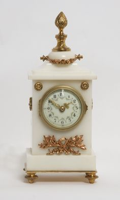 This Moment is Unique:  antique alabaster mantel clock