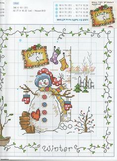 Snowman Christmas Cross stitch