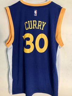 f539723d264d Adidas NBA Jersey Golden State Warriors Stephen Curry Blue Alt 3rd sz S