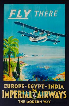 Vintage poster Imperial Airways - Europe, Egypt, India