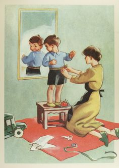 Martta Wendelin (1893- 1986) | par caijsa's postcards Vintage Cards, Vintage Images, Mother And Child Reunion, Vintage Drawing, Mirror Art, Black And White Pictures, Children's Book Illustration, Christmas Art, Art Images