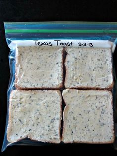 Texas Toast Make Your Own Freezer Garlic Texas Toast - better than store-bought!Make Your Own Freezer Garlic Texas Toast - better than store-bought! Make Ahead Freezer Meals, Freezer Cooking, Cooking Recipes, Freezer Recipes, Freezer Desserts, Freezer Biscuits Recipe, Drink Recipes, Cooking Tips, Bulk Cooking