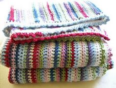 Vintage striped...she did it with half double crochet (us terms) instead of double crochet.