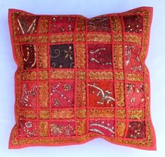 indian Handmade Patchwork cotton Cushion Cover Home Decor Pillow Cases KH095 #Handmade #Ethnic