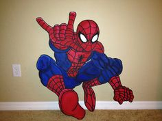 SpiderMan party prop or standee or room by PrettyPartiesndPaint