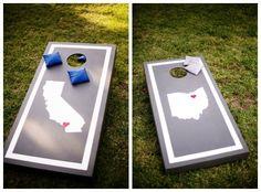 Add Some Fun with Cornhole on itsabrideslife.com/Wedding Cornhole Games/DIY Wedding Ideas/Outdoor Wedding Ideas