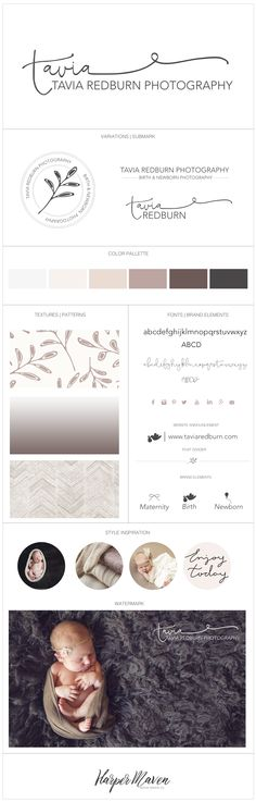 Tavia Redburn Photography brand design by Harper Maven Design | www.harpermavendesign.com