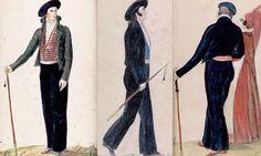 Costume-du-basque-avec-son-bâton-ferré-makhila Ferrat, Harem Pants, Costumes, Suits, Fashion, Basque Country, Moda, Harem Trousers, Dress Up Clothes