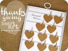 Raising up Rubies: thanksgiving heart art ... ♥