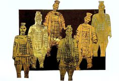 Terracotta Army printed wit foam (China)
