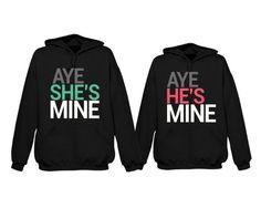 365 In Love His and Her Matching Hoodies Aye She's Mine, Aye He's Mine Couples Hooded Sweatshirts Matching Couple Outfits, Matching Couples, Cute Couples, Cute Couple Shirts, Cool Shirts, Bonnie Y Clyde, Matching Hoodies, Me And Bae, My Bebe