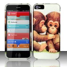 Howdy! This is so romantic with Cute Monkeys Texture hard case for iPhone 5!DO you want to get it to make lovely look for your phone?