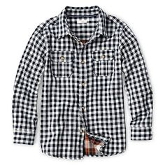 Joe Fresh Long-Sleeve Button-Front Shirt - Boys 4-14 from JCPenney on Catalog Spree, my personal digital mall.