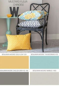 (Master bedroom or living took scheme)Diary of a Fit Mommy: Greyson's Nursery Color Scheme! Home And Deco, My Living Room, Small Living, Duck Egg Blue Bedroom, Yellow Walls Living Room, Duck Egg Blue And Grey Living Room, Yellow Dining Room, Living Room Decor Grey Couch, Living Room Colors