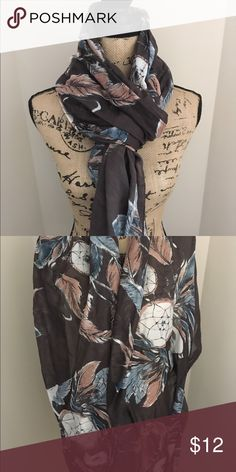 Dream catcher scarf Beautiful long scarf, excellent used condition. Could be used as a shawl also. Smoke free/pet free home. H&M Accessories Scarves & Wraps