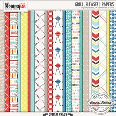 Grill, Please! | Papers #mommyish #paper #digiscrap #barbeque #barBQ #grill #summer