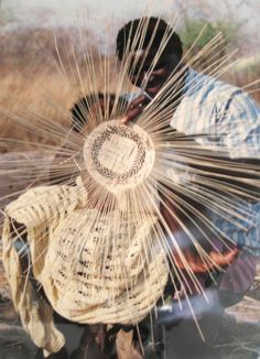 In Zimbabwe, women of the Tonga tribe craft baskets with amazing detail ~ Generations have learned the craft in Africa ~ Fair trade and handmade decor from around the world