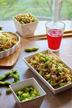 Spaghetti Squash Sesame Noodles with Edamame | Family Fresh Cooking