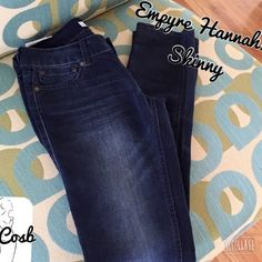 Empyre Hannah Skinny Distressed Jeans Empyre Hannah Skinny Jeans by Zumez. Jeans are distressed on from & back. Back pockets shown on pic. Waist is 27 & length is 32. New w/tags. Empyre Hannah Jeans Skinny