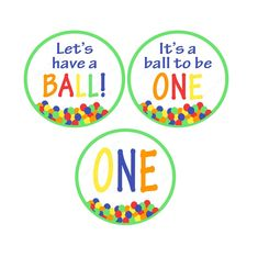 Let's Have a Ball Birthday Party Decorations*Let's Have A Ball Printable*Primary Colors Birthday*Colorful Birthday Party*Cupcake Toppers Colorful Birthday Party, First Birthday Party Decorations, Ball Birthday Parties, Baseball First Birthday, Tractor Birthday, Sons Birthday, Baseball Banner, Cupcake Party, Cupcake Toppers